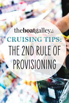 If you make mistakes provisioning, you'll be stuck with all kinds of food you don't need. Just follow the 2nd rule of provisioning and eat what you really need.