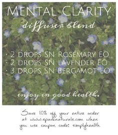 Essential oil diffuser recipes ellen m gregg intuitive diffuser blend rosemary is famous for promoting mental clarity lavender is calming and fandeluxe Image collections