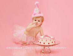 girl smash cake picture idea - Google Search
