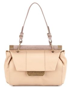 Some of you have to get in on this: Halston Heritage Leather Shoulder Bag   cute and unique structured bag