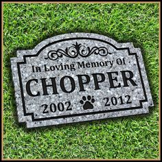 Pet Memorial Grave Marker Headstone Dog by CrackerCreekMillwork