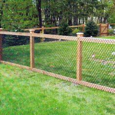 We install chain-link fences, chain-link gates, and chain-link structures. We offer a range of styles and colors, including chain-link mesh on wood post and rails.