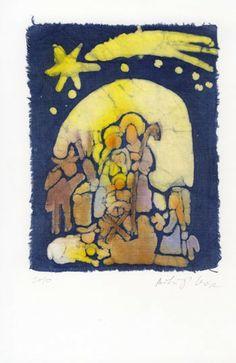 Betlehem  batik on canvas by marybatik on Etsy, $44.00