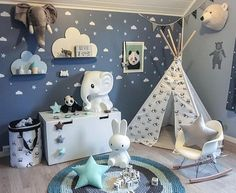 Kids Black and White Teepee with Pandas Tipi with poles Etsy Baby Bedroom, Baby Boy Rooms, Baby Boy Nurseries, Nursery Room, Toddler Rooms, Playroom Decor, Baby Room Decor, Kids Decor, Bedroom Decor