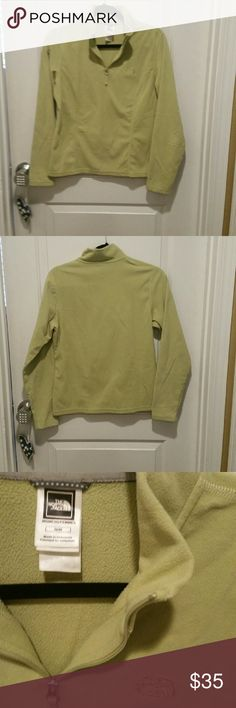 North Face quarter zip lightweight pullover North Face quarter zip fleece pullover.  In excellent condition North Face Sweaters