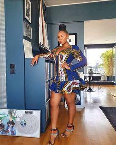 trending ankara short gown styles Aso Ebi Lace Styles, Ankara Short Gown Styles, Latest Aso Ebi Styles, Trendy Ankara Styles, Trendy Dresses, African Attire, African Wear, African Dress, African Style