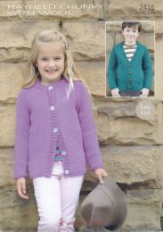 Hayfield Chunky With Wool Child's Cardigan 2415