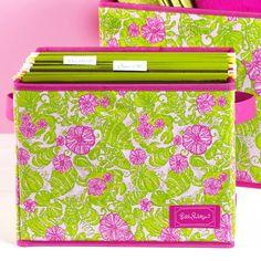 Organizing products Lilly Pulitzer file bin! Fun!