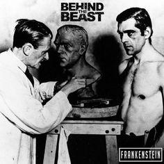 Sculpting Boris Karloff, a cinematic icon. Frankenstein. Universal Monsters, November 2017