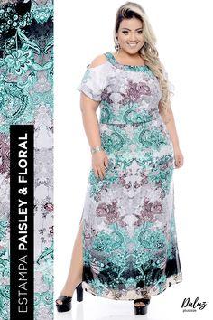 Vestido Plus Size Estefan- Coleção Primavera - Verão 2018 Plus Size - daluzplussize.com.br