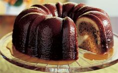 Pecan Molasses Bundt Cake with Bourbon Glaze Recipe - Bon Appétit Molasses Cake, Bourbon Glaze, Bourbon Sauce, Cake Recipes, Dessert Recipes, Baking Recipes, Glaze Recipe, Cupcake Cakes, Bundt Cakes