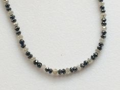 Black & White Grey Sparkling Diamonds Faceted by gemsforjewels