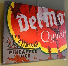 Del Monte - Kunst aan de muur in Café Boeien Katwijk aan Zee
