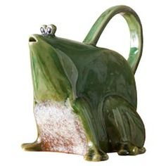 ceramic frog pitcher- Love this, I want one Ceramic Clay, Ceramic Pottery, Ceramic Pitcher, Ceramic Teapots, Frog House, Frog Illustration, Frog Art, Cute Frogs, Frog And Toad