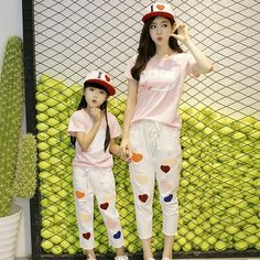 Cheap family matching, Buy Quality family suit directly from China matching family Suppliers: Maggie's Walker Children 2017 Summer New Korean Girls Two-piece Suit Family Matching Cotton Short Sleeved T-shirt Casual Suit Mother Daughter Dresses Matching, Matching Family Outfits, Korean Casual, Casual Suit, 2017 Summer, Cotton Shorts, Korean Girl, Girls, Boys