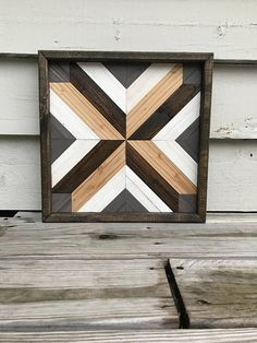 Wood Quilt - Wood Wall Art- Wood Wall Decor- Wood Art- Geometric Wood Wall Art - Wooden Wall Art - Boho Wall Art - Rustic Wall Art - Boho Wood Ar