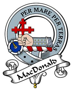 MacDonald of Clan Sleat Family Crest apparel, MacDonald of Clan Sleat Coat of Arms gifts