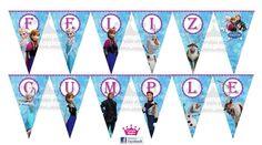 Banderines para fiesta de frozen Frozen Themed Birthday Party, Birthday Party Themes, Peppa Pig, Tiffany Blue, Olaf, Ideas, Frozen Birthday Party, Birthday Bunting, Birthday Display