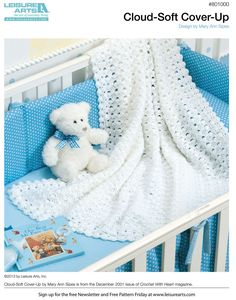 Cloud-Soft Cover-Up ePattern - Cloud-Soft Cover-Up by Mary Ann Sipes is from the December 2001 issue of Crochet With Heart magazine.