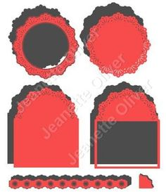 Set of Doily Edge Toppers Frames SVG Files on Craftsuprint - Add To Basket!