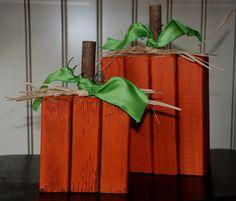 2 x 4 pumpkins- DIY