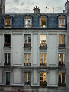 Paris views through the windows