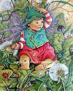 linda ravenscroft | Fairy Magyk Ecards - Linda Ravenscroft - Windy Day