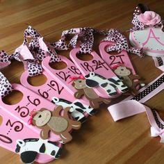 Hand painted Gift Set...Closet Dividers and Hair bow Holder veronicasclosetcreations.blogspot.com