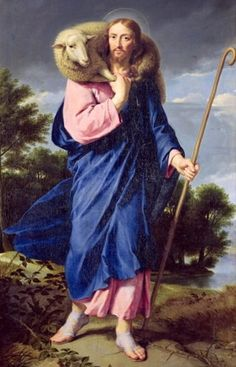 The Good Shepherd ~ Philippe de Champaigne: El buen Pastor. Lord Is My Shepherd, The Good Shepherd, Catholic Art, Religious Art, Religious Paintings, Philippe De Champaigne, Première Communion, Religion Catolica, Marc Chagall