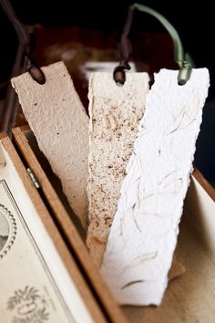 Handmade Paper Bookmarks