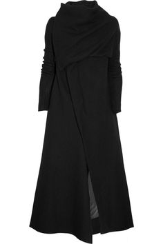 Long wool coat by Rick Owens #minimalist #fashion