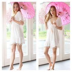 #ivory #hotlava #tunic #clothing #clothes #ibiza #mode #kleding #festival #look #style #party #white #pink #tootz #models #bloggers #fashion #shooting #beauty