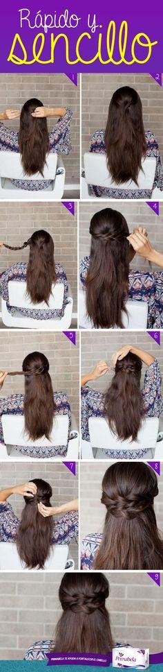 Para ir al colegio o a la universidad, un peinado muy Primabela #HairStyle…