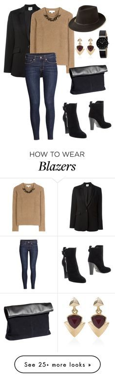 """""""A Blazer for all occasions"""" by leannemary on Polyvore featuring Dagmar, Sergio Rossi, Burberry, H&M, STELLA McCARTNEY, White House Black Market, Skagen, black, blazer and casualoutfit"""