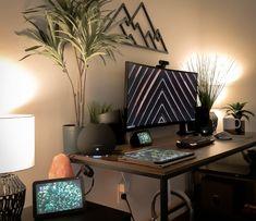 Computer Setup, Desk Setup, Fake Plants, College, Architecture, Gaming, Link, Music, Pictures