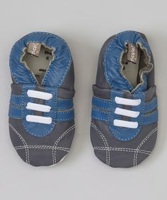 Gray & Blue Sneaker Booties by Tommy Tickle