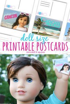 Printable postcards for doll play.