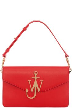 RED LOGO PURSE WITH CHAIN