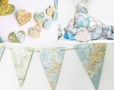 13 Ideas creativas para decorar tu casa con mapas | Decoración de Uñas - Manicura y Nail Art