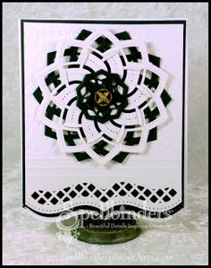 New pinwheel delight cut and fold die.  May have to have.  Love the cut and fold I already have