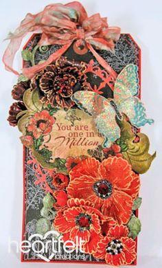Heartfelt Creations | Blazing Poppy Tag