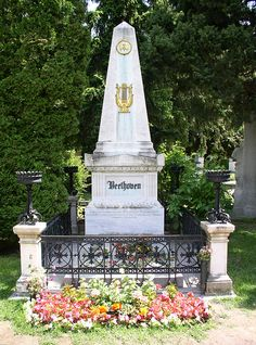 The grave site of Beethoven