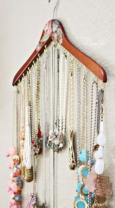 Do you have a ton of jewelry but you don't know how to store it neatly? If you don't want to spend a fortune on specially made jewelry storage, then these tips and hacks can help. This list presents genius storage solutions and ideas to better organize your jewelry and even display your pieces beautifully.