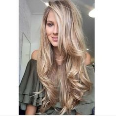 These Top Long Blonde Hair Ideas will transform.Long hairstyles are the most desired and feminine hairstyles ,Classy Hairstyles for Long Blonde Hair - Trend Ideas Classy Hairstyles, Pretty Hairstyles, Layered Hairstyles, Long Blonde Hairstyles, Ladies Hairstyles, Big Waves Hairstyle, Long Hairstyles Cuts, Braided Hairstyles, Wedding Hairstyles
