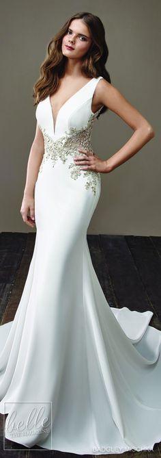 2af84eebd374b Wedding Dress by Badgley Mischka Bride Collection 2018 Gelinlikler, Uzun  Gelinlikler, Gelin Stili,