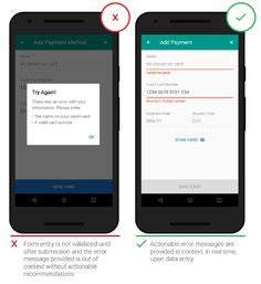 How To Design Error States For Mobile Apps — Smashing Magazine Graphisches Design, Form Design, App Ui Design, Mobile App Design, Material Design, Design Styles, Layout Design, Learning Psychology, Ui Patterns