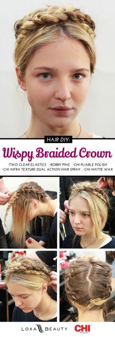 Runway Hair Tutorial: Whispy Crown Braid