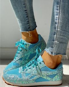 Solid Sequins Lace-Up Sport Sneakers – cuteshoeswear women sneakers 2019 women sneakers outfit style women sneakers outfit swag a walk to wear Dress With Sneakers, Dress And Heels, Sneakers Fashion, Fashion Shoes, Shoes Sneakers, Sneakers Women, Shoes Sandals, Basket Sport, Trend Fashion