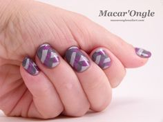 Macar'Ongle - Grey + color + fishbraid (A England Wuthering Heights, Cathy and Crown of Thistles)