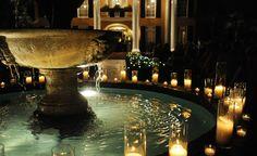 Elegant courtyard fountain decoration at Hotel Mazarin ...